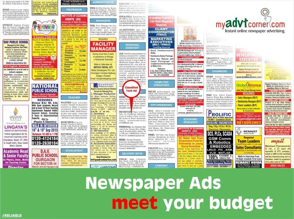 Recruitment-Newspaper-Classified-Ads-Booking