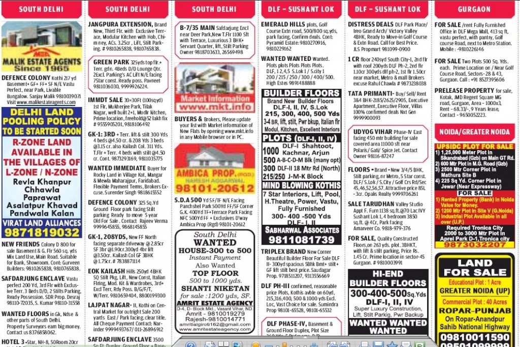 Hindustan Times Property Ads