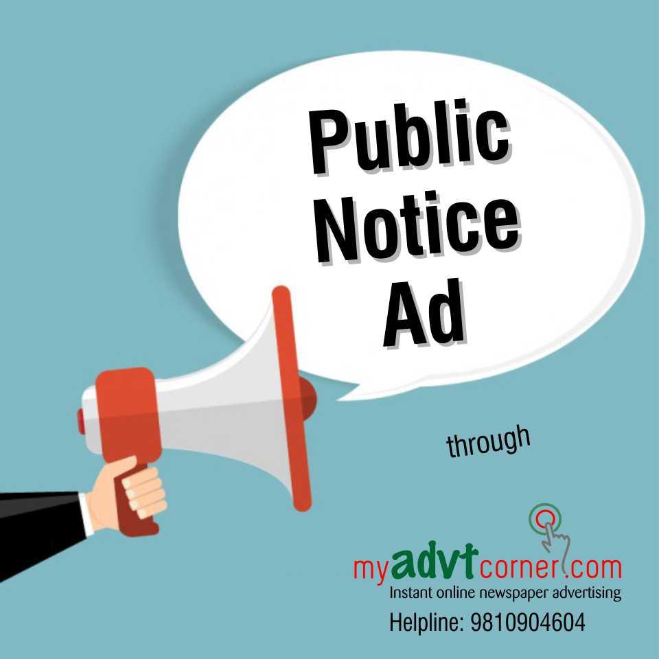 Public Notice Ads in Newspaper