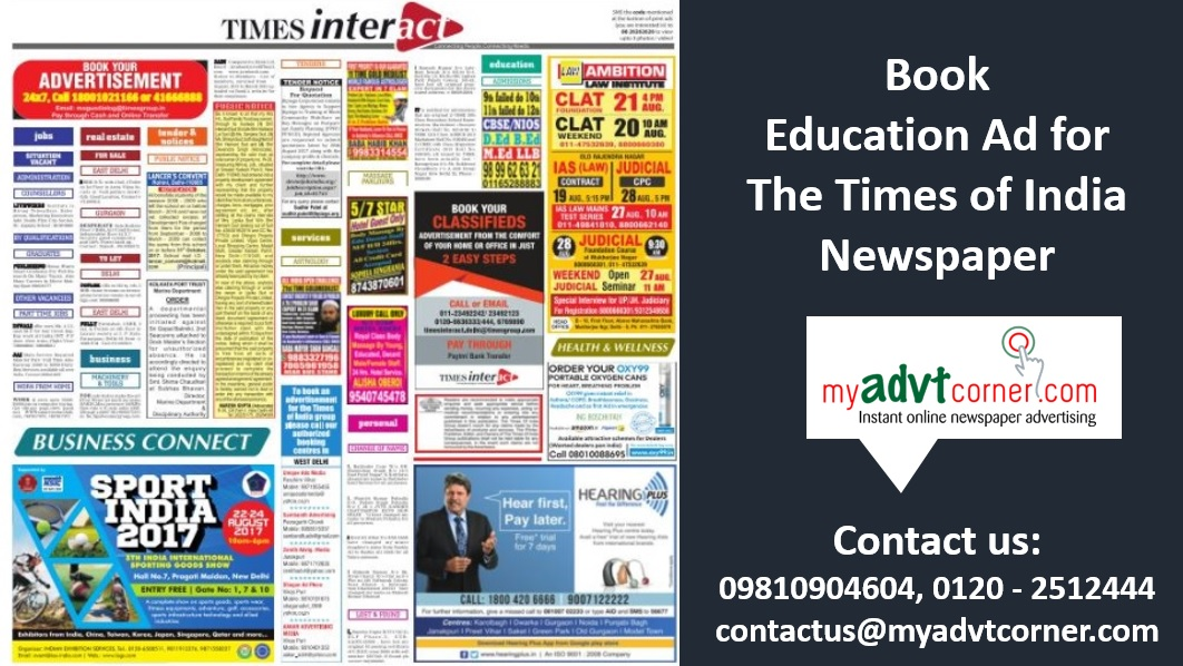 Times of India Education Ads