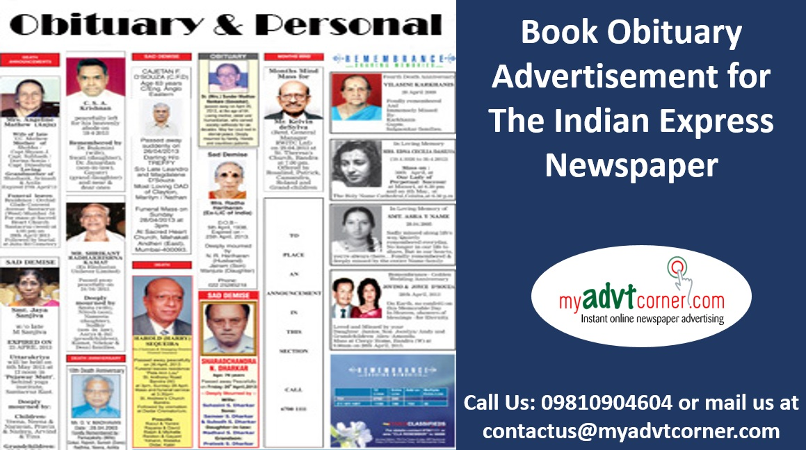 PUBLISH OBITUARY AD IN NEWSPAPER AND YOU WON'T HAVE TO