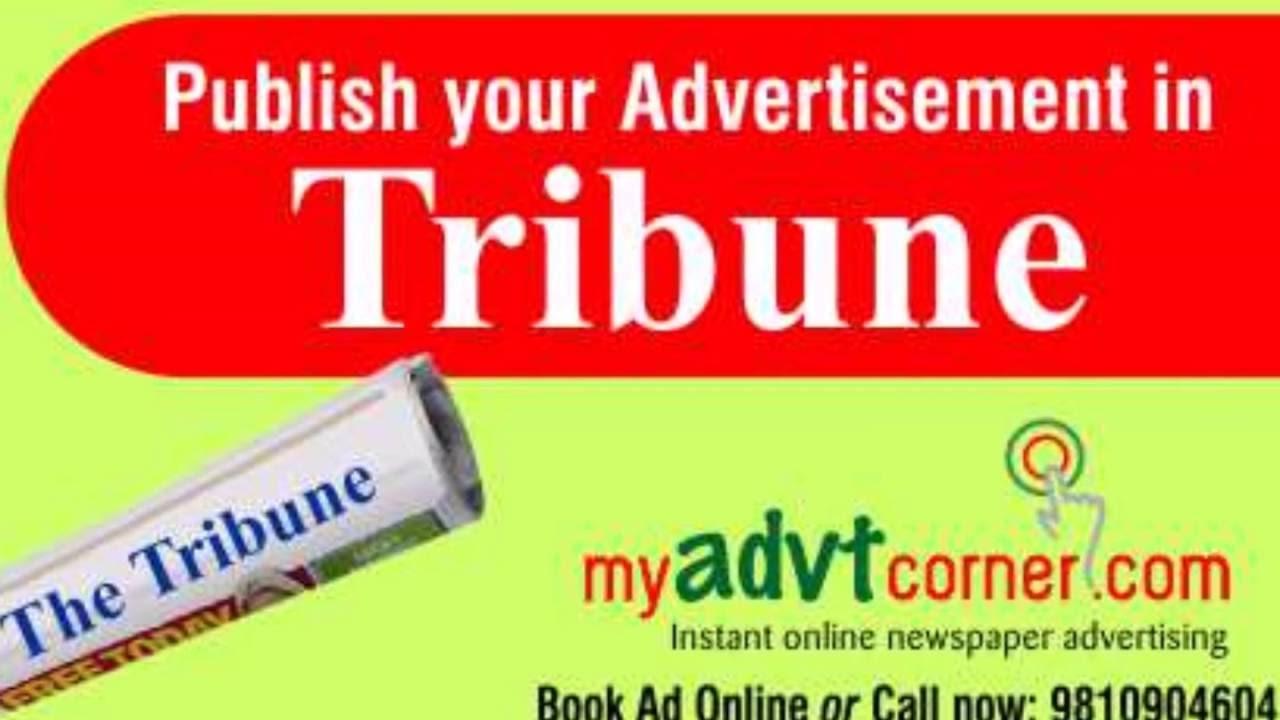 The Tribune Newspaper Ads