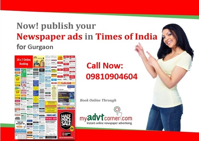 Times of India Gurgaon Classified Ads