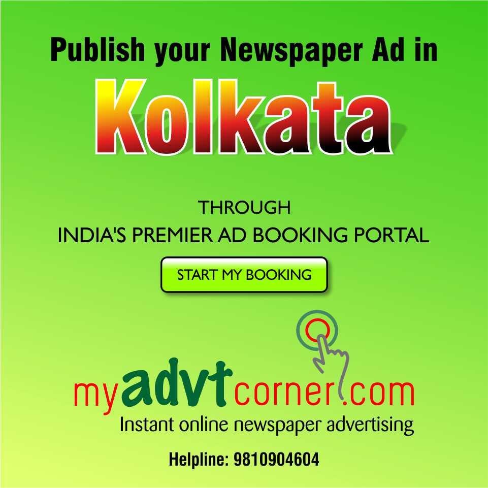 kolkata Newspaper Ads