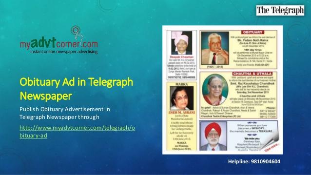 The Telegraph Obituary Ads