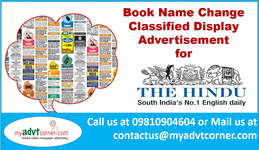 The Hindu Name Change Ads