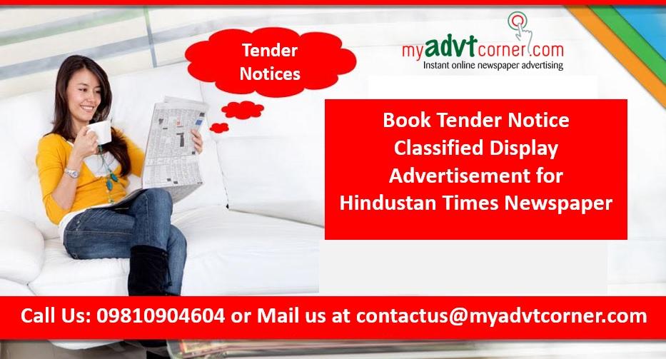 Hindustan Times Tender Notice Ads