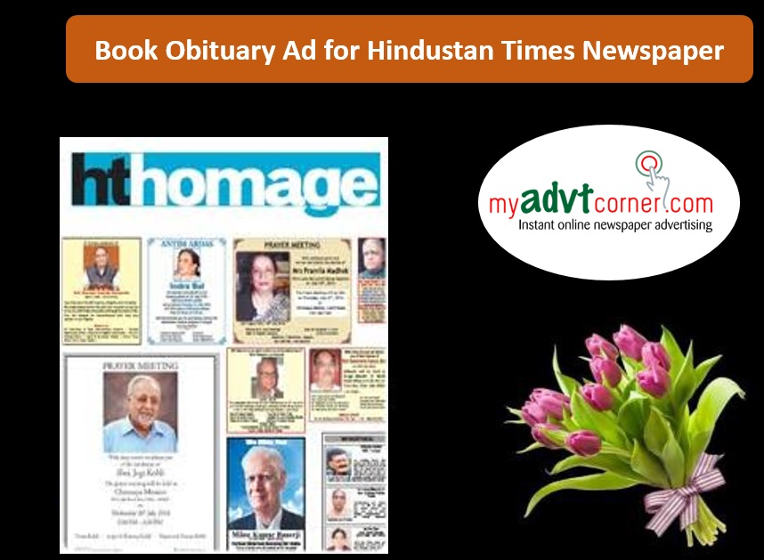 Hindustan Times Obituary Advertisement