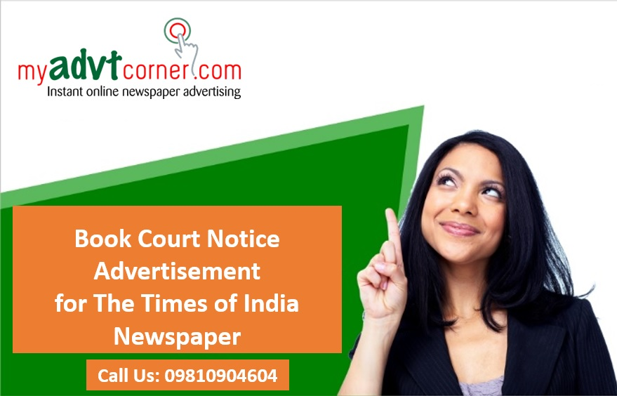 Court Notice Ads in Times of India