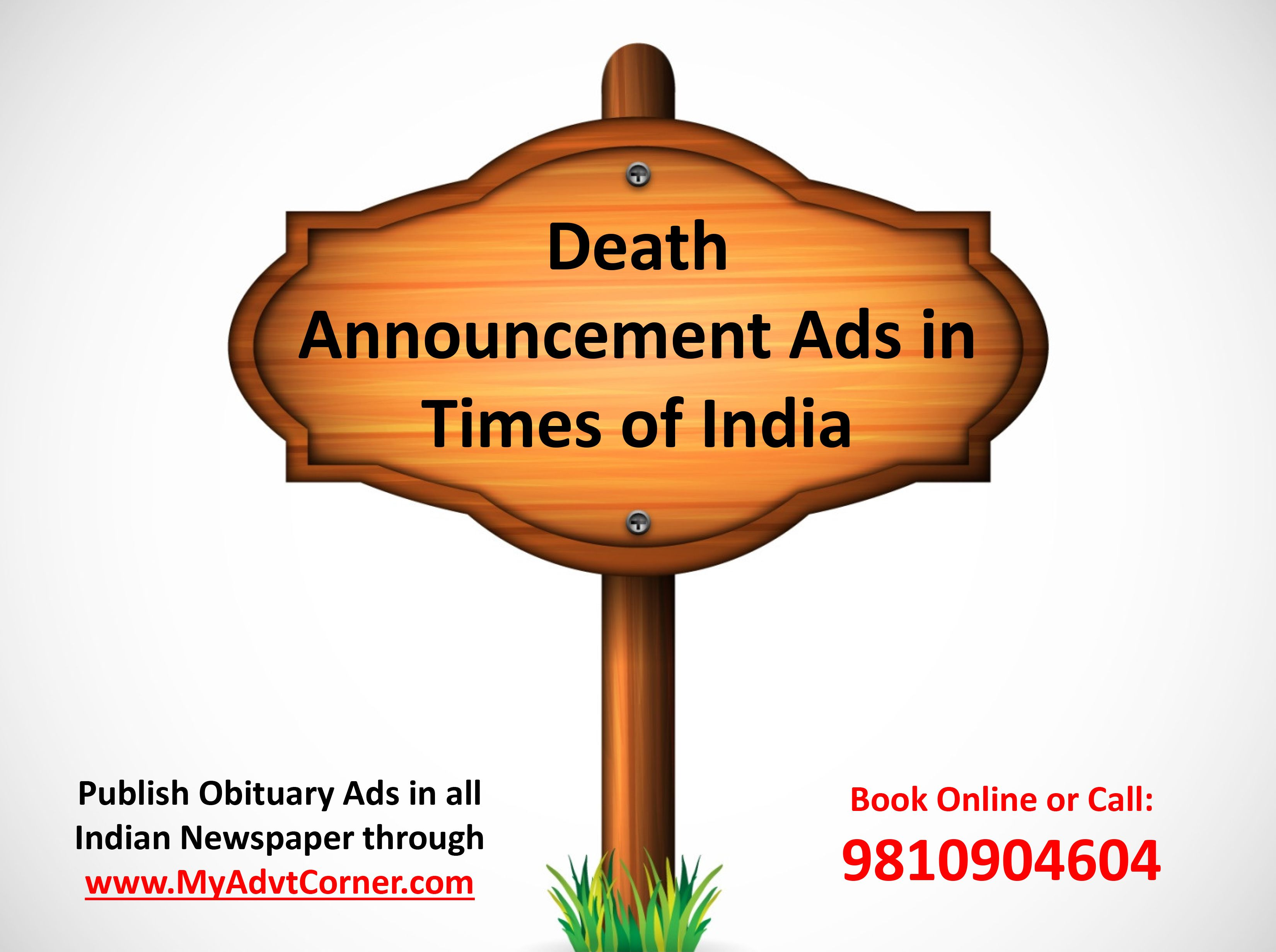 Death Announcement Ads in Times of India