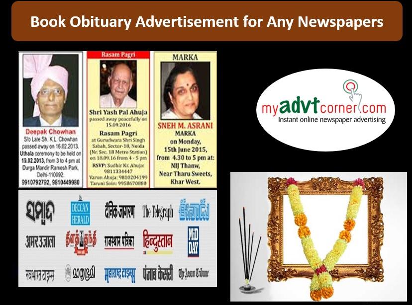 Obituary Ads in Newspaper
