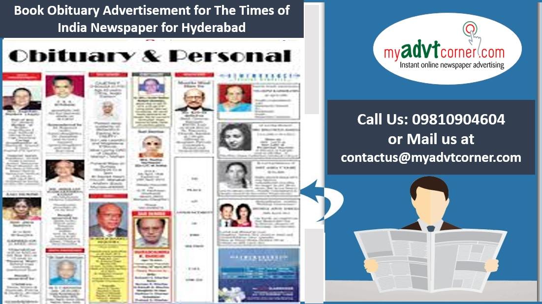 Times of India Hyderabad Obituary Ads