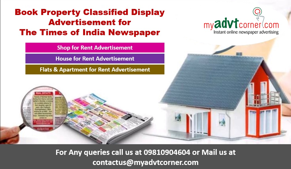 Times of India Property Classified Display Ads