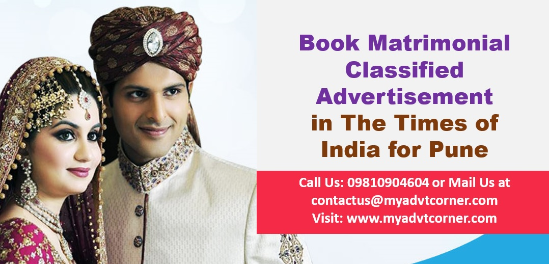 Times of India Pune Matrimonial Advertisement