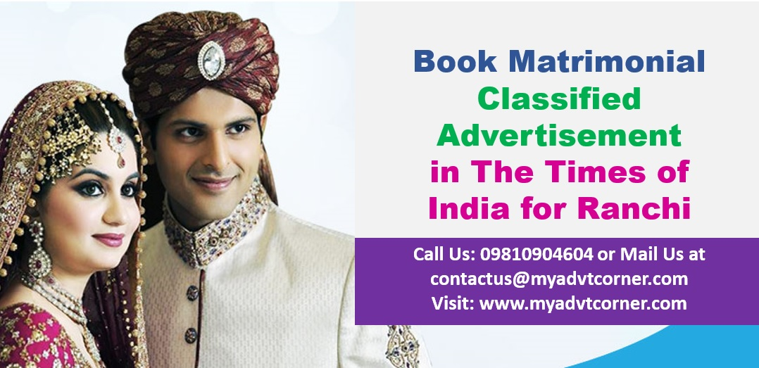 Times of India Ranchi Matrimonial Ads