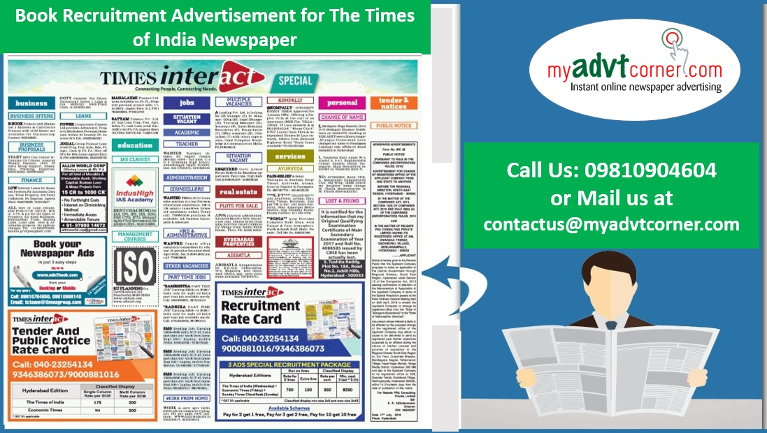 Times of India Recruitment Advertisement
