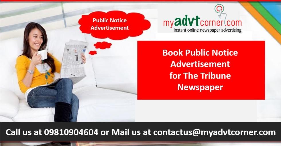 The Tribune Public Notice Classified Display Ads