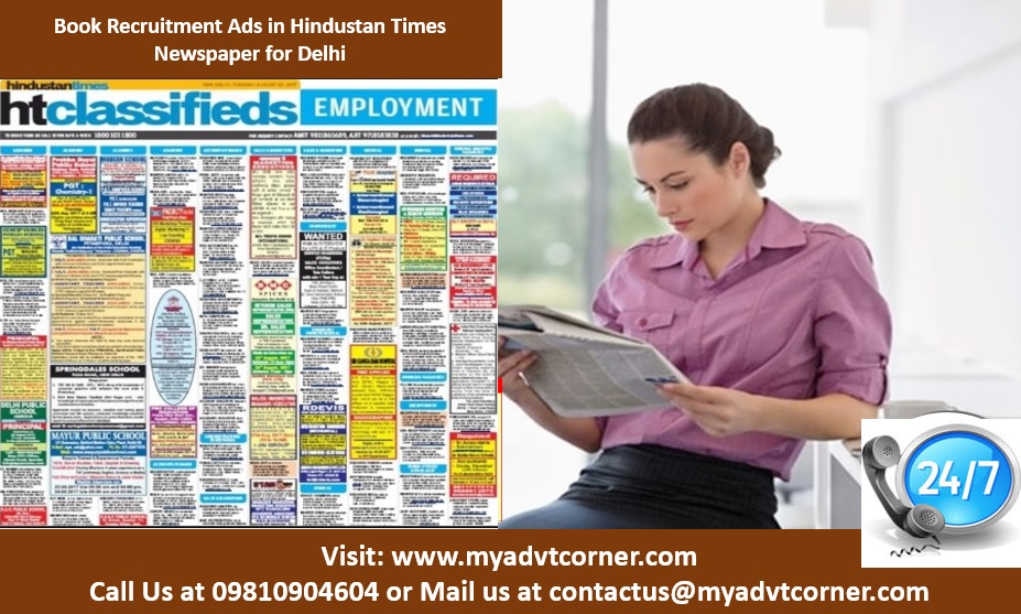 Hindustan Times Recruitment Advertisement