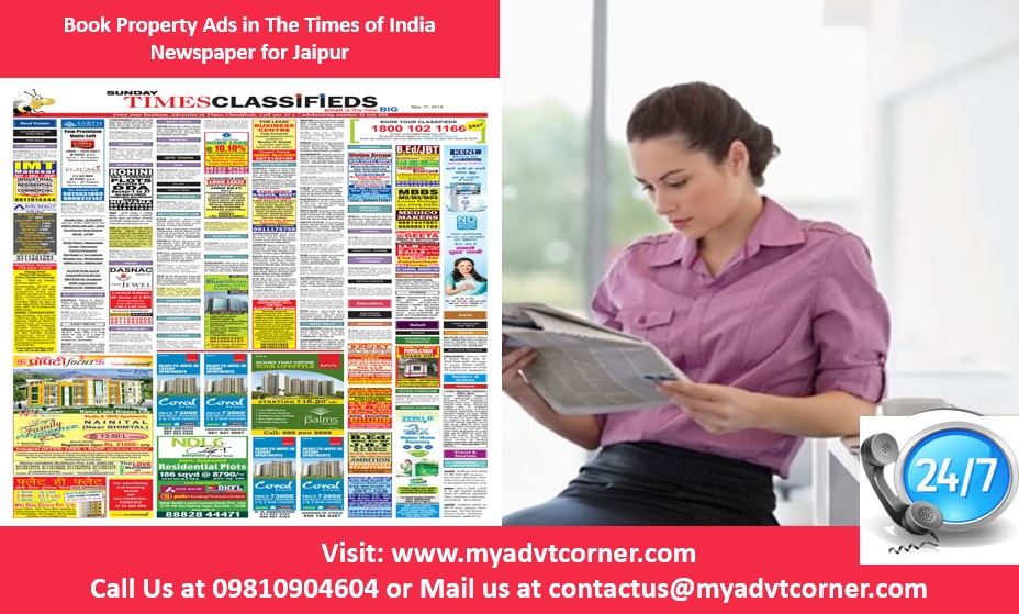 Property Ads in Times of India for Jaipur