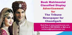 Tribune Matrimonial Ads for Chandigarh