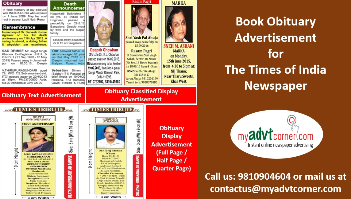 Times-of-India-Obituary-Advertisement