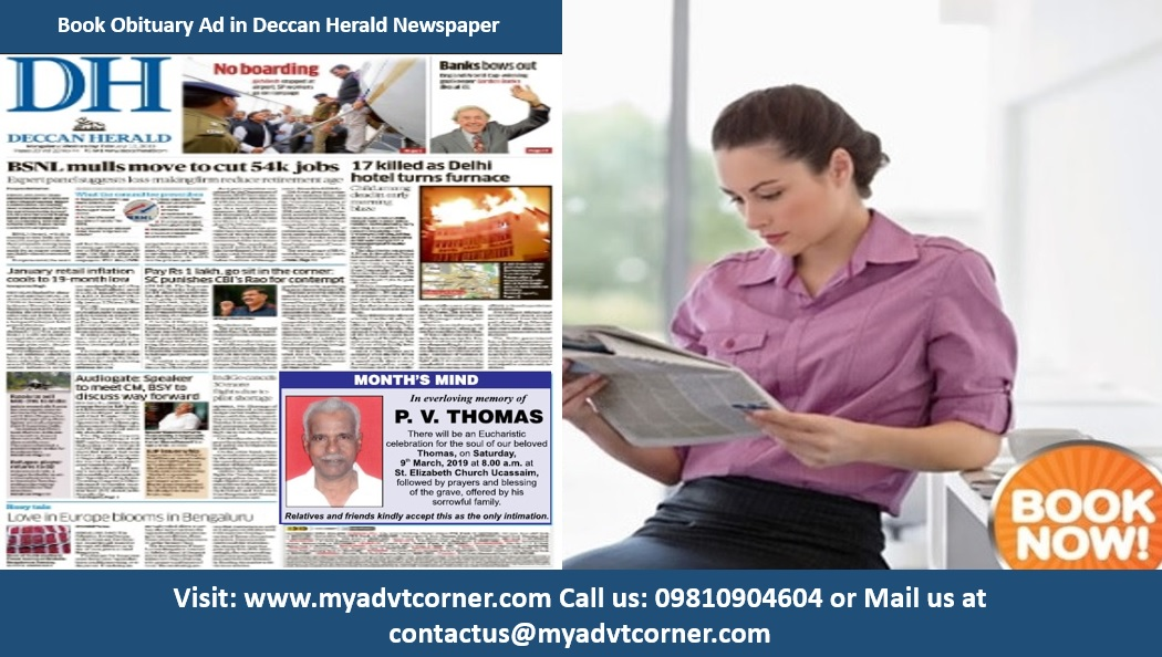 Deccan Herald Obituary Ads