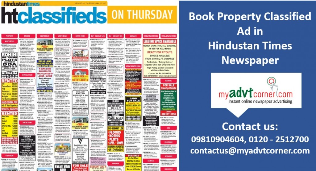 Hindustan-Times-Property-Ad-Booking-Online