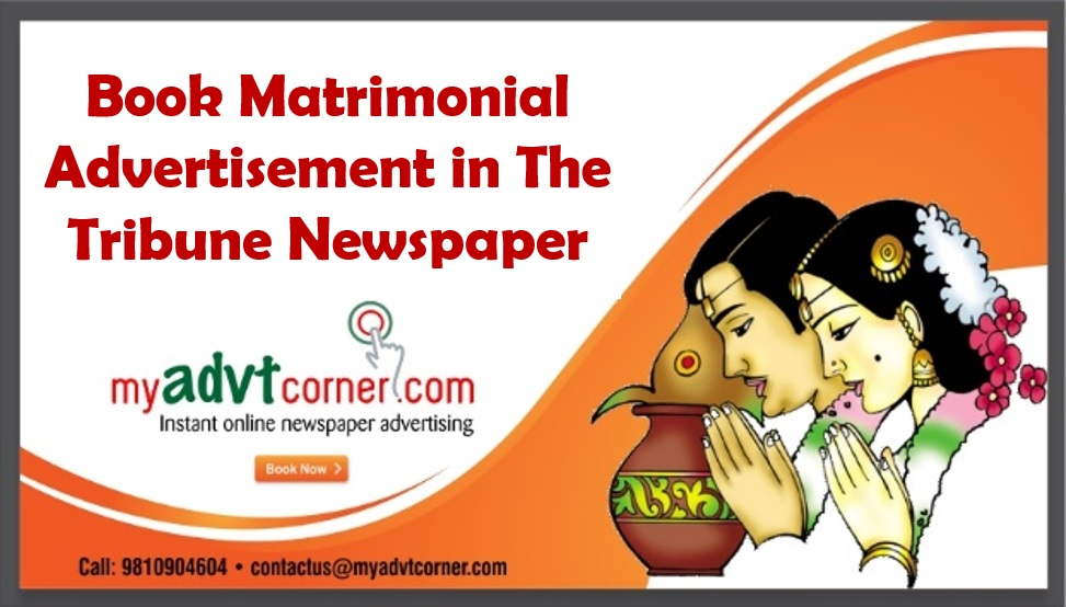 Tribune Matrimonial Advertisement