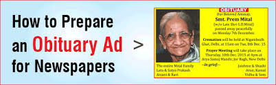 obituary advertisement