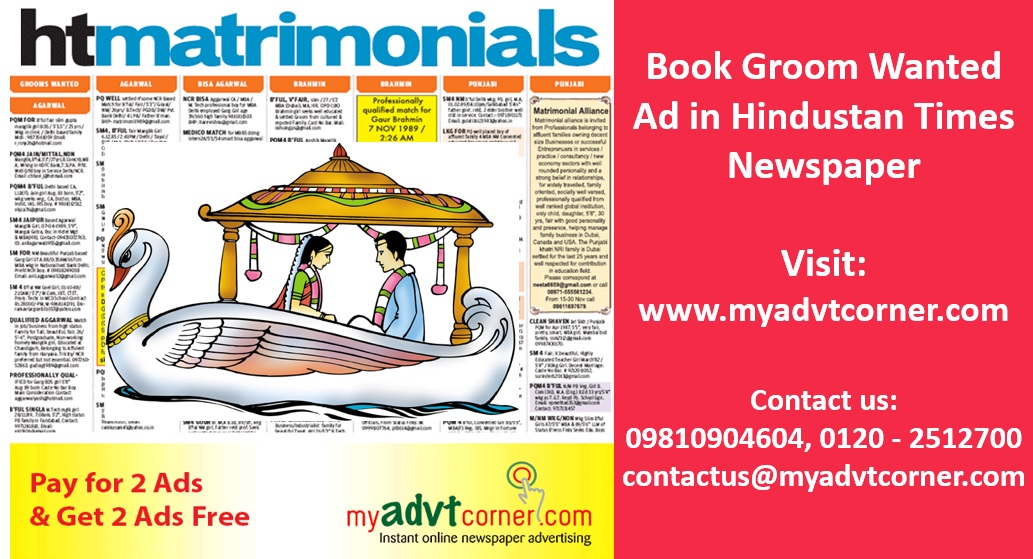 Hindustan-Times-Groom-Wanted-Ads