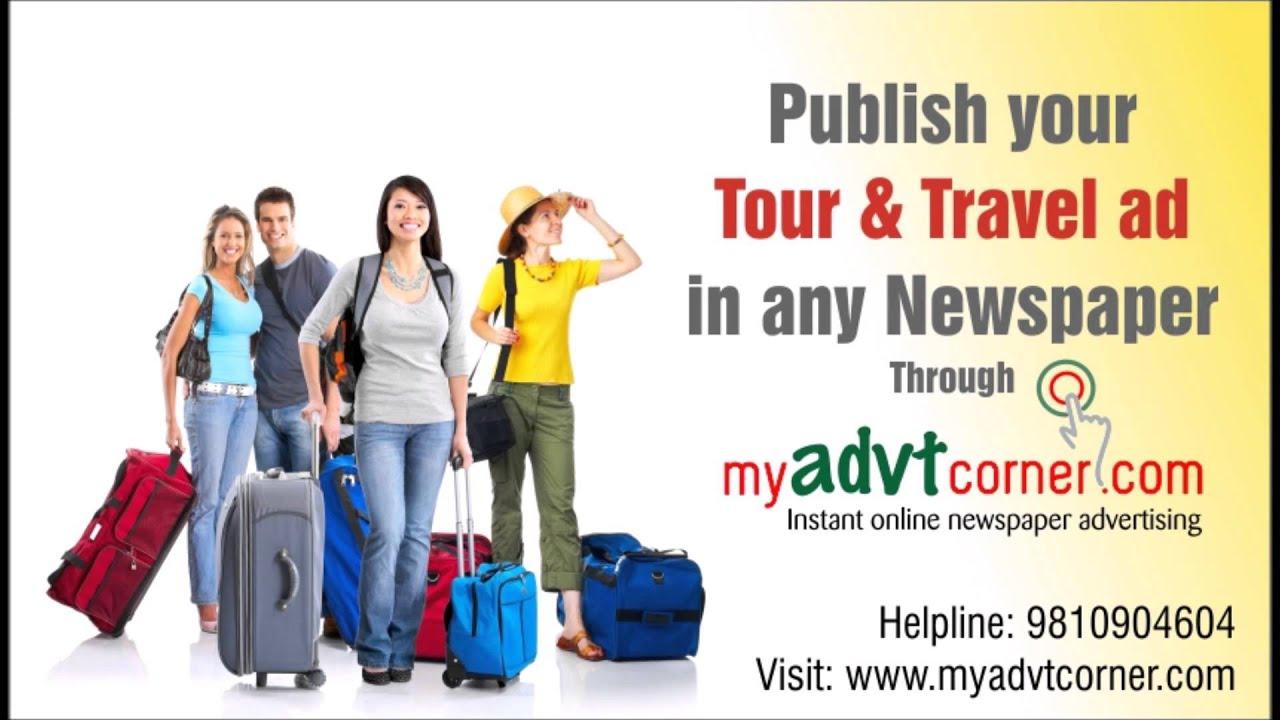 Travel Ads in Newspaper