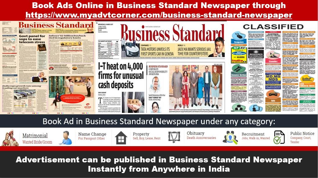 Business Standard Newspaper Advertisement