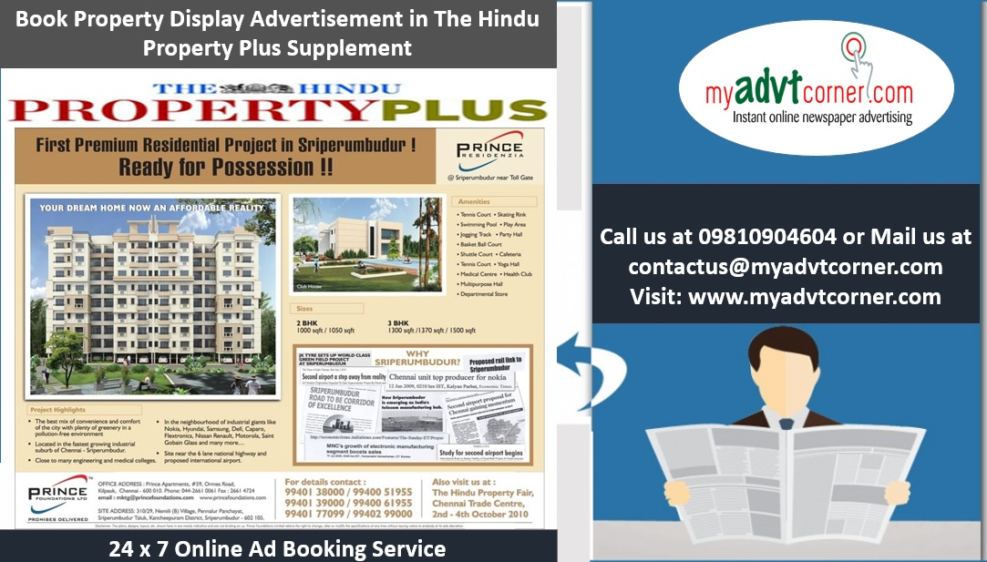 The Hindu Property Plus Advertisement