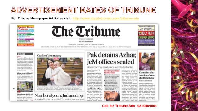 Tribune Newspaper Ads