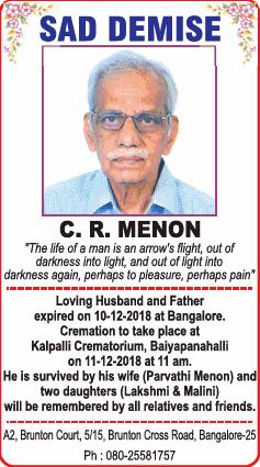 c-r-menon-obituary-ad-times-of-india-bangalore