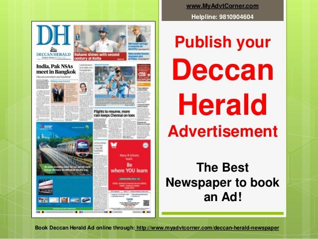 Deccan Herald Display Ads