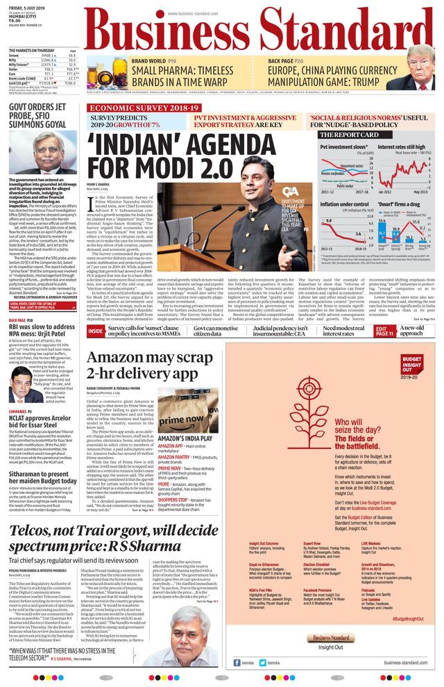 Ads in Business Standard Newspaper