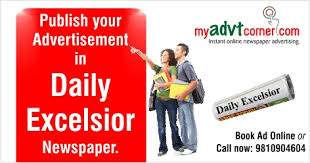 Daily Excelsior Newspaper Ads