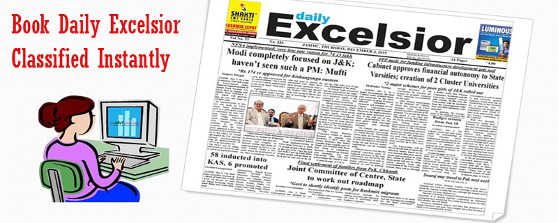 Daily Excelsior Newspaper Classified Ads